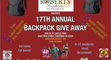 Backpack Givaway