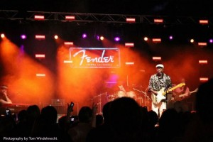 Buddy Guy playing at Fender Guitars new Visitor Center grand opening. Photography by Tom Windeknecht