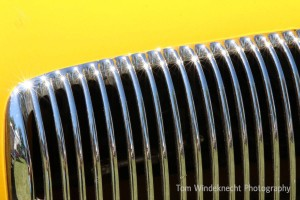 Chrome Grill on Yellow Car by Tom Windeknecht Photography