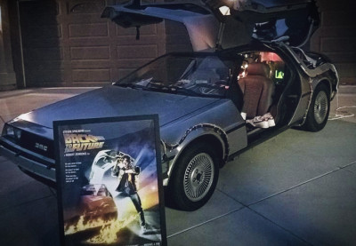 The DeLorean Time Machine is visiting Riverside January 16
