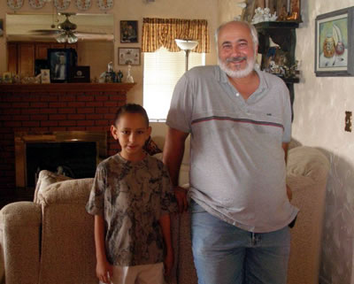Tom Caparola and Noah in 2006