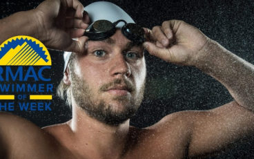 CBU Swimmer Robert Griffith, photo by Jacob Gonzalez