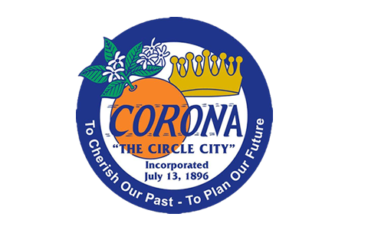 Corona city seal header