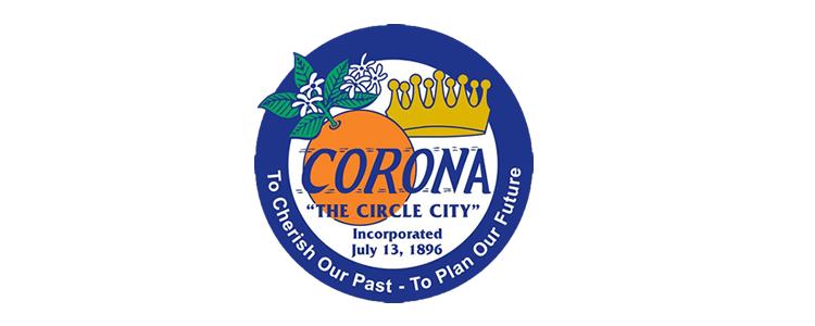 Corona city seal header