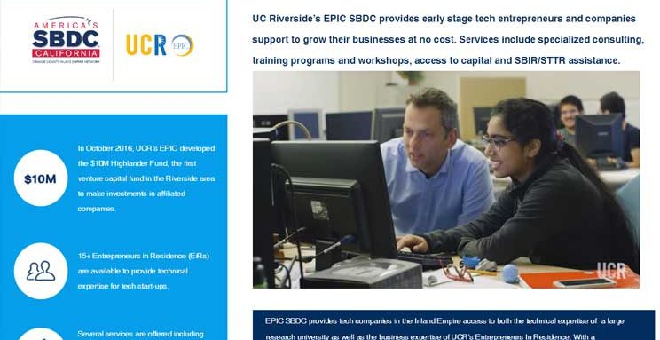 UCR - Epic SBDC