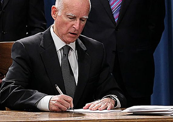 Governor Brown Signing Bill