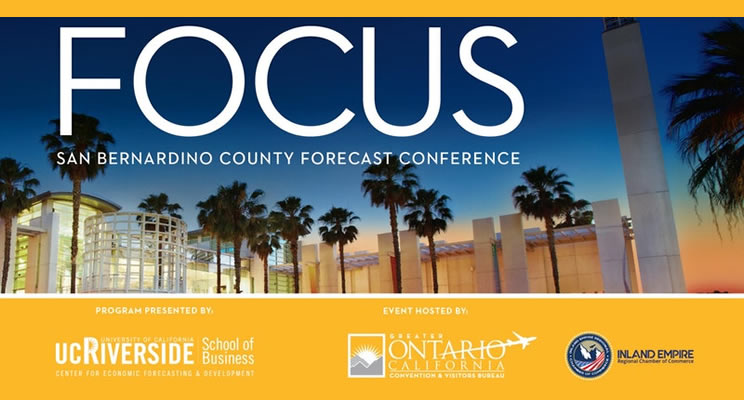 The San Bernardino County Forecast Conference will be on May 1, 2018