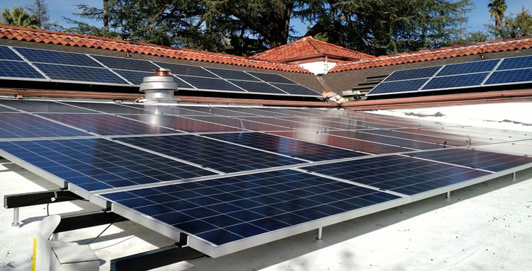 Solar Panels on Commercial Roof in the Inland Empire