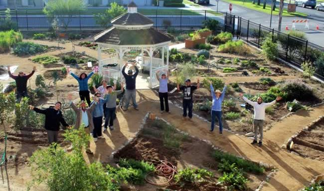 Party scheduled for community garden for Landscape rock riverside ca