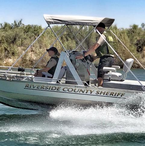 Riverside Deputy Sheriff boat