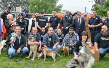 San Bernardino PD, Pets and Amazon Donation