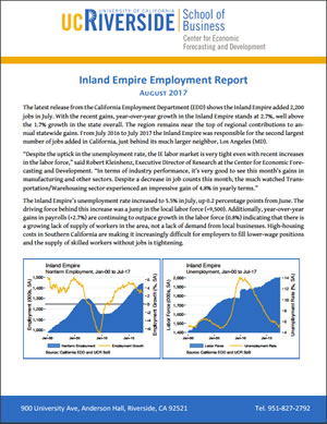 UCR Job Growth