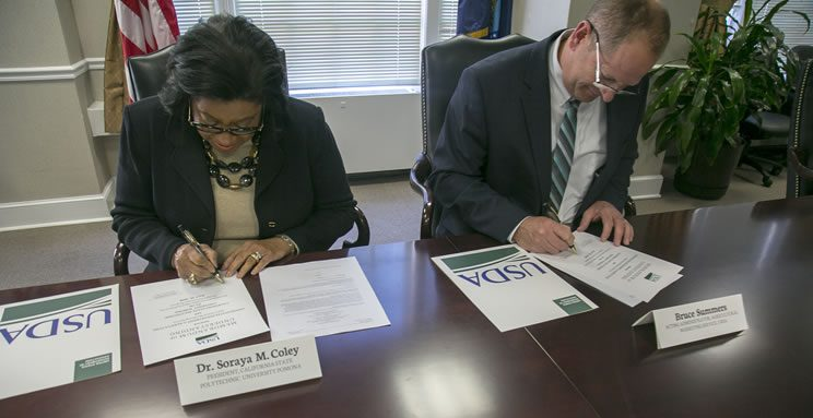 USDA Cal Poly Pomona Signing