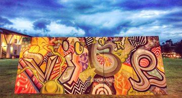 Painted by San Bernardino artist Ivan Preciado during the 2017 Alliance for Community Transformation
