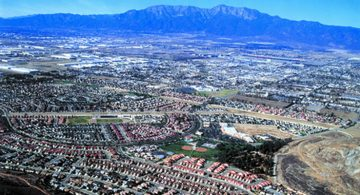 Arial photo of Fontana