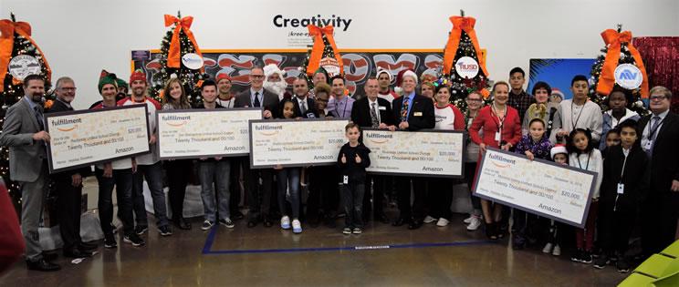 Amazon Donates $100,00 to schools