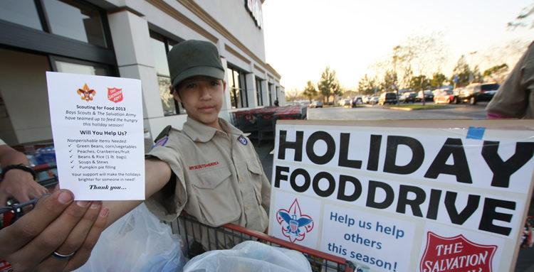 San Bernardino Boy Scouts, Holiday drive