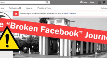 The Broken Facebook Journey