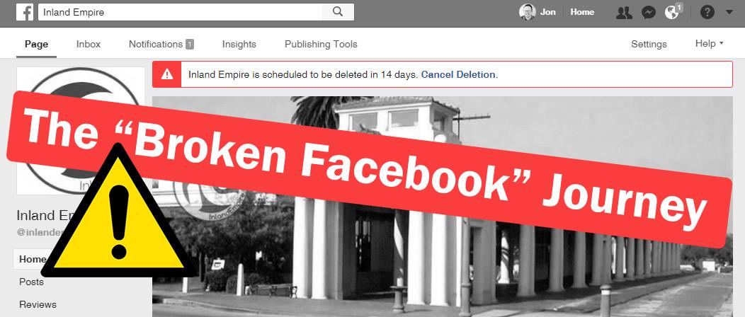 The Broken Facebook Journey
