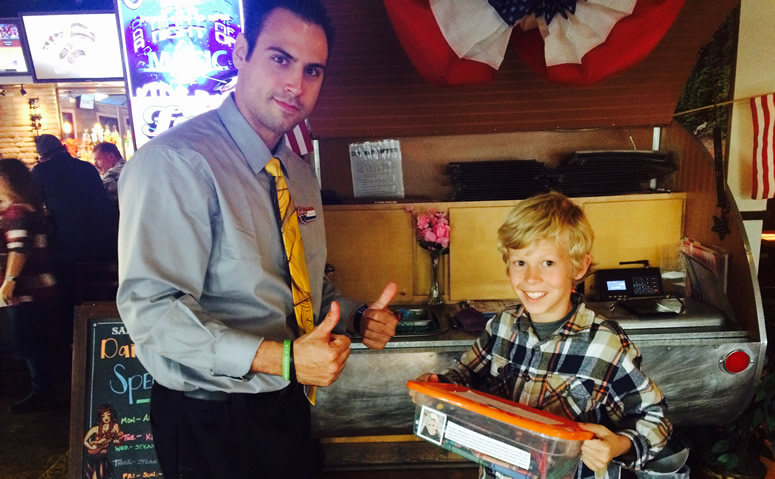 American Family Restaurant Donating to Caring Colors Crayons