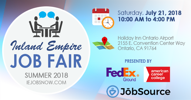 Inland Empire Job Fair – Saturday, July 21