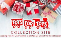 Toys For Tots, Massage Envy Location in Palm Desert, Palm Springs