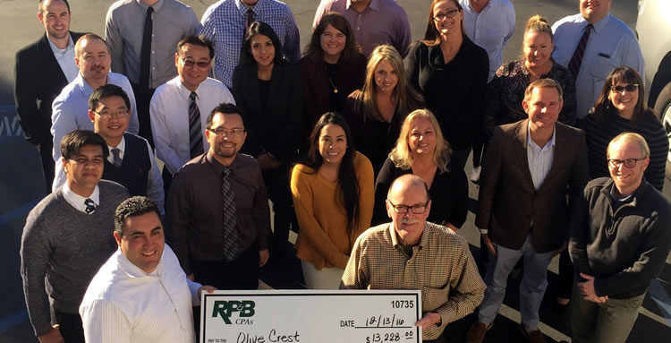 RP&B donates to Olive Crest