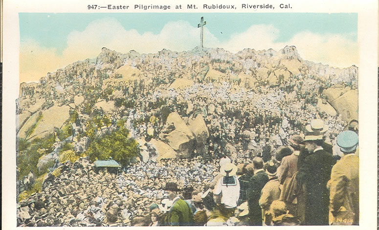 Easter Pilgrimage at Mt. Rubidoux, Riverside, CA.