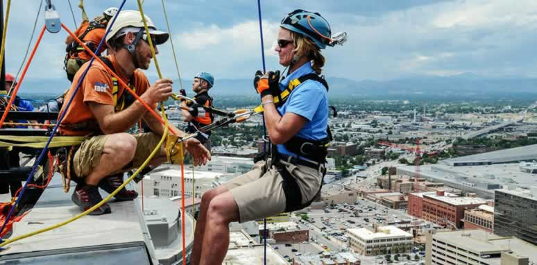 Over the edge - Habitat for Humanity