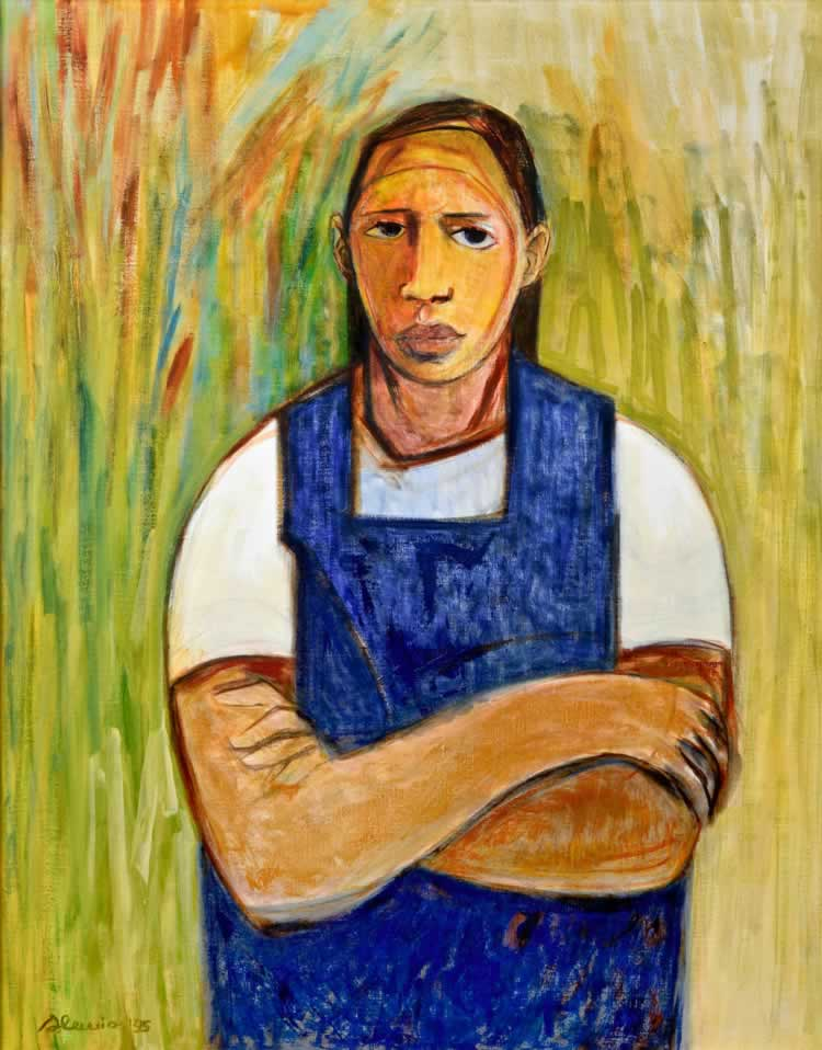 """Above by Samella Lewis - """"Woman in the field"""""""