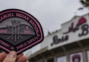 San Manuel Indian Nation Pink Patch