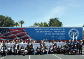 Stater Brothers packaging food for veterans