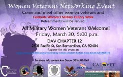 Women Veterans Networking Event