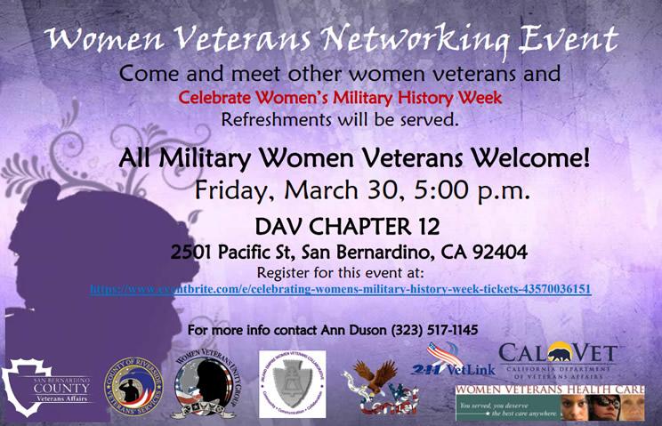 Women Veterans Networking Event